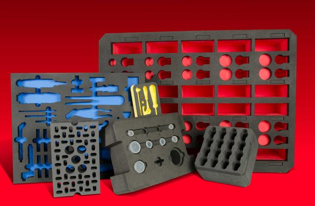 Exemple de mousse de calage pour malette outillage et transport de pièces